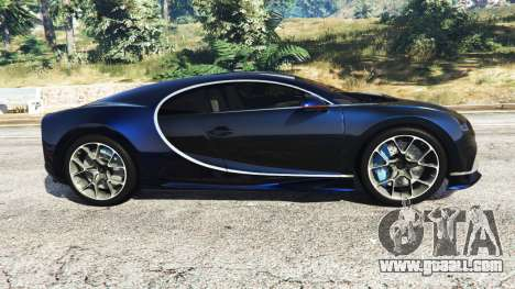 GTA 5 Bugatti Chiron left side view