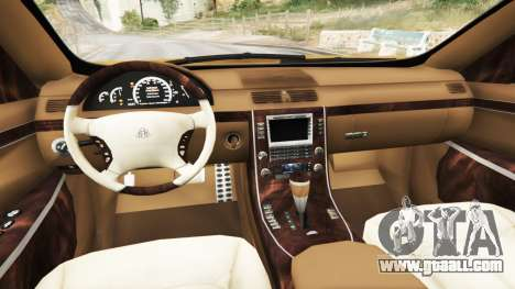GTA 5 Maybach 62 S rear right side view