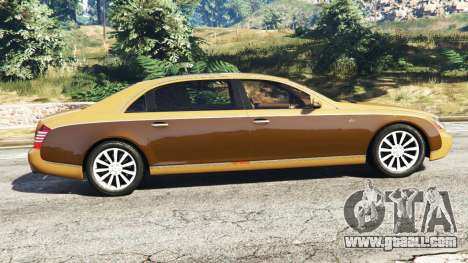 GTA 5 Maybach 62 S left side view