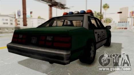 GTA VC Police Car for GTA San Andreas left view