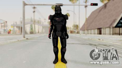 Mass Effect 2 Shepard Default N7 Armor Helmet for GTA San Andreas second screenshot