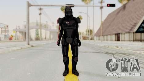 Mass Effect 2 Shepard Default N7 Armor Helmet for GTA San Andreas second screenshot