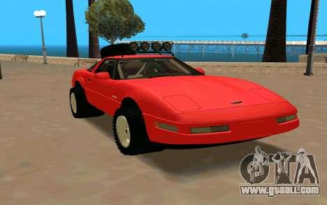 Chevrolet Corvette C4 for GTA San Andreas right view