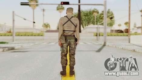 MGSV Phantom Pain Rogue Coyote Soldier Shirt v1 for GTA San Andreas third screenshot