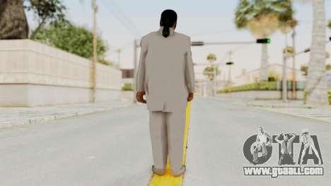 Taher Shah White Suit for GTA San Andreas third screenshot
