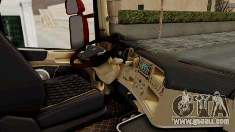 Scania R730 for GTA San Andreas inner view