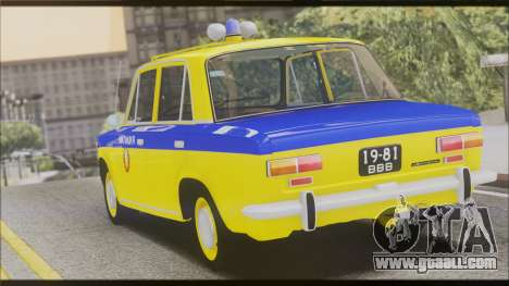 VAZ 2101 for GTA San Andreas bottom view