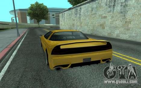 BlueRay's V9 Infernus for GTA San Andreas back left view