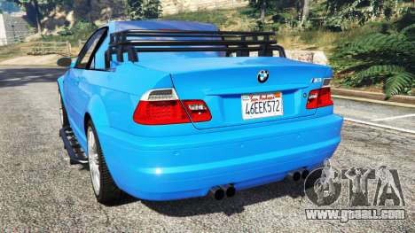 GTA 5 BMW M3 (E46) 2005 Pickup rear left side view