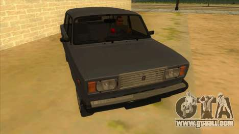 VAZ 2107 RUSSIA for GTA San Andreas back view