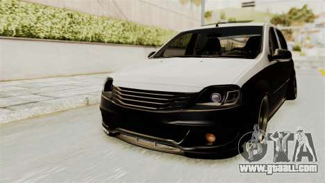 Dacia Logan Facelift Stance for GTA San Andreas right view