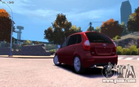 Lada Kalina 2 for GTA 4 left view