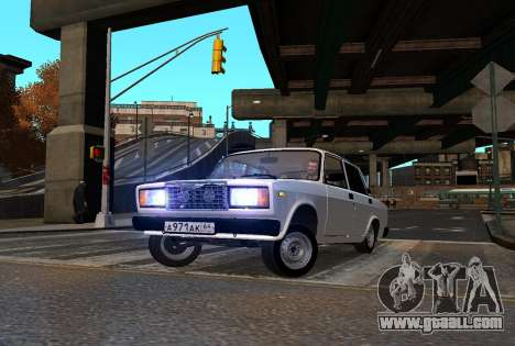 VAZ 2107 AzElow for GTA 4 inner view