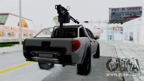 Mitsubishi L200 Army Libyan for GTA San Andreas back left view