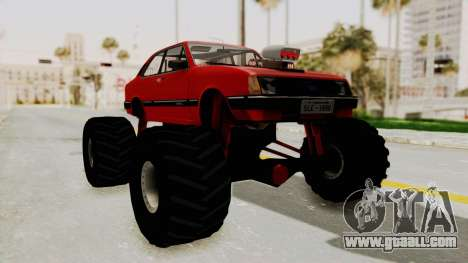 Chevrolet Chevette SL 1988 Monster Truck for GTA San Andreas back left view