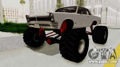 Pontiac GTO Tempest Lemans 1965 Monster Truck for GTA San Andreas right view