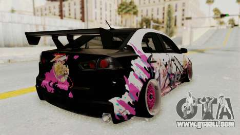 Mitsubishi Lancer Evo X Shimakaze Kai Itasha for GTA San Andreas left view