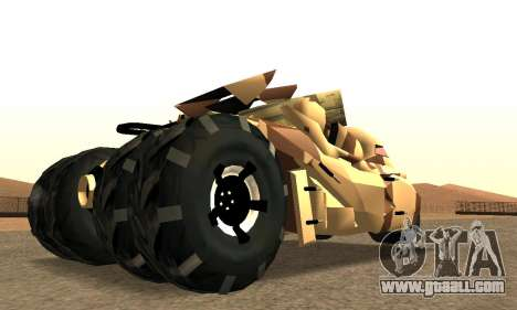 Army Tumbler Rocket Launcher from TDKR for GTA San Andreas left view