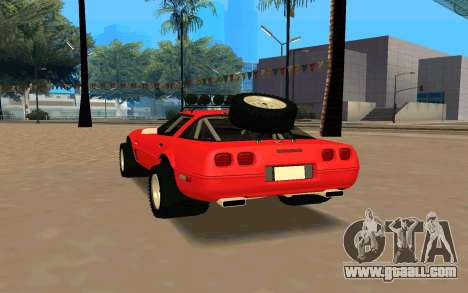 Chevrolet Corvette C4 for GTA San Andreas back left view