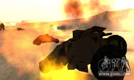 Army Tumbler Rocket Launcher from TDKR for GTA San Andreas side view