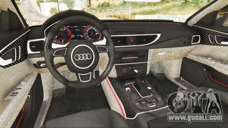 GTA 5 Audi A7 2015 rear right side view