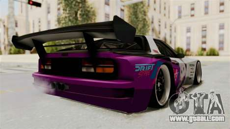 Mazda RX-7 FC Itasha for GTA San Andreas back left view