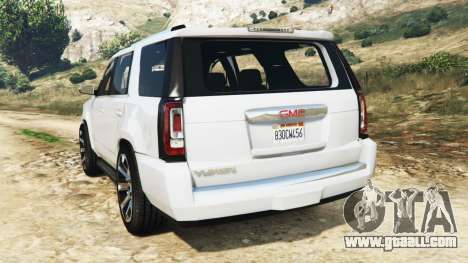 GTA 5 GMC Yukon Denali 2015 rear left side view