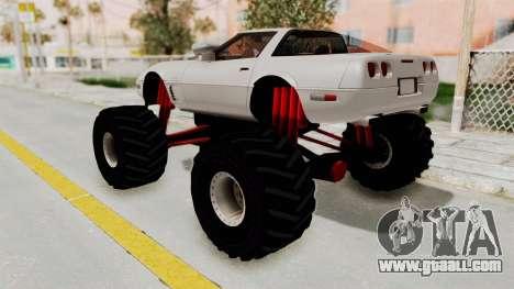 Chevrolet Corvette C4 Monster Truck for GTA San Andreas right view
