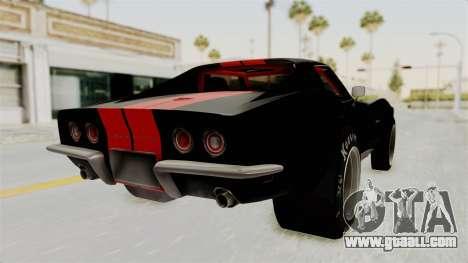 Chevrolet Corvette Stingray C3 1968 Drag for GTA San Andreas left view