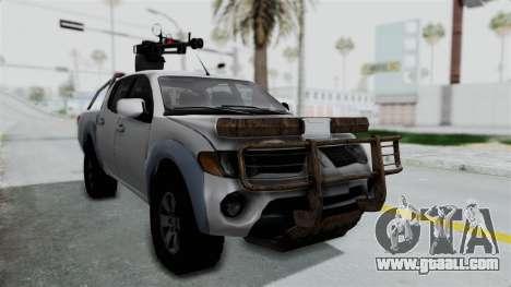 Mitsubishi L200 Army Libyan for GTA San Andreas right view
