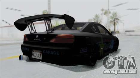 Nissan Silvia S15 RDT for GTA San Andreas back left view