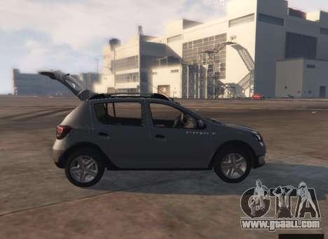 GTA 5 Dacia Sandero Stepway 2014 back view