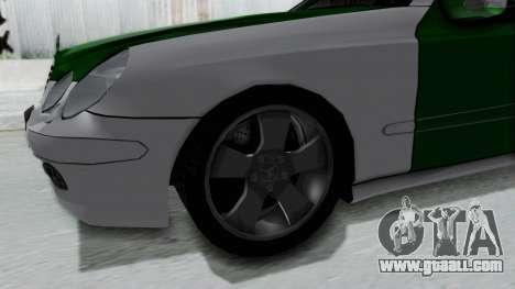 Mercedes-Benz E500 Police for GTA San Andreas back view