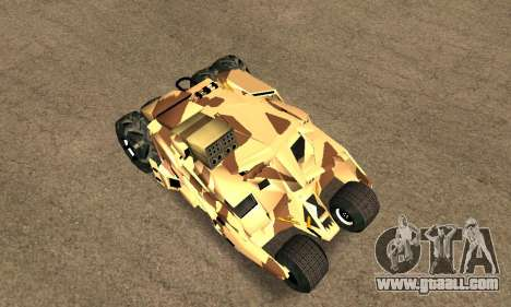 Army Tumbler Rocket Launcher from TDKR for GTA San Andreas back view
