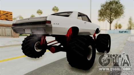 Pontiac GTO Tempest Lemans 1965 Monster Truck for GTA San Andreas left view