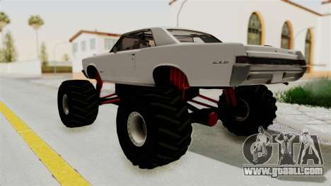 Pontiac GTO Tempest Lemans 1965 Monster Truck for GTA San Andreas back left view