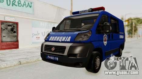 Fiat Ducato Police for GTA San Andreas right view