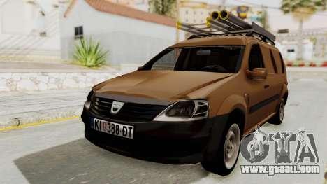 Dacia Logan MCV Van for GTA San Andreas back left view