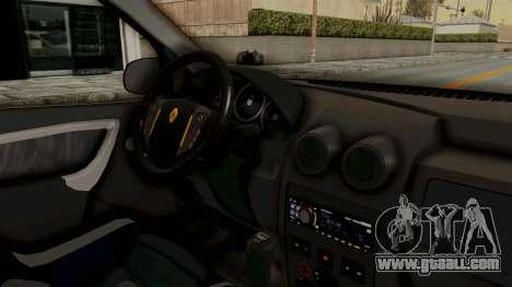 Dacia Logan Facelift Stance for GTA San Andreas inner view