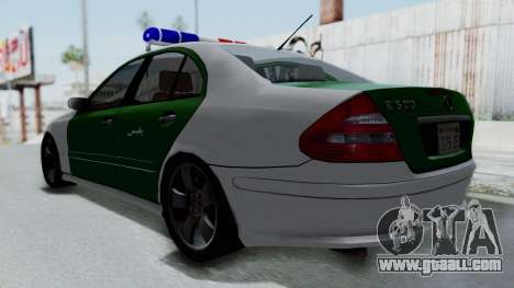 Mercedes-Benz E500 Police for GTA San Andreas back left view