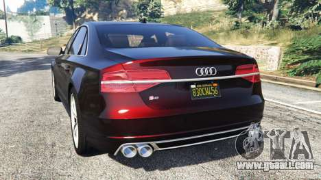 GTA 5 Audi S8 W12 2016 rear left side view