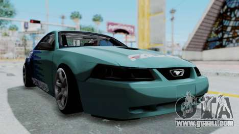 Ford Mustang 1999 Drift Falken for GTA San Andreas right view