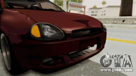 Chevrolet Corsa Hatchback Tuning v1 for GTA San Andreas upper view
