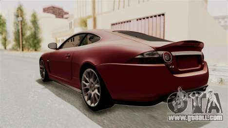 Jaguar XKR-S for GTA San Andreas back left view