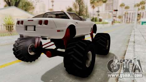 Chevrolet Corvette C4 Monster Truck for GTA San Andreas back left view