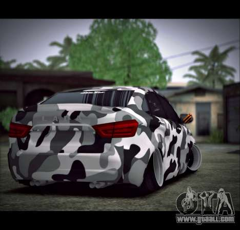 Lada Vesta Camouflage for GTA San Andreas left view