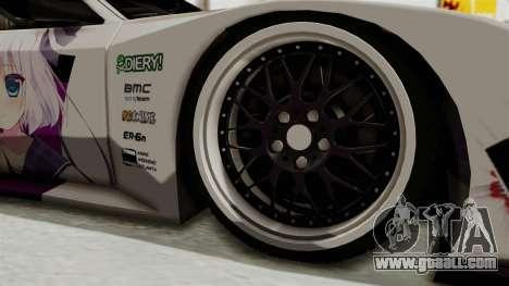 Mazda RX-7 FC Itasha for GTA San Andreas back view