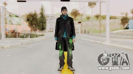 Watchdogs Aiden Pierce DedSec Outfit for GTA San Andreas second screenshot