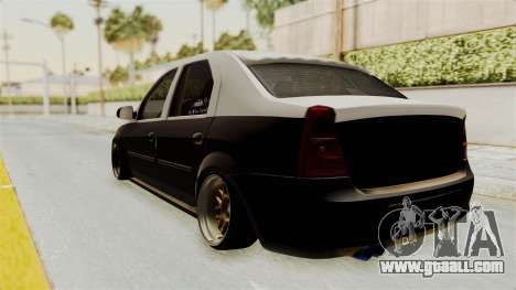 Dacia Logan Facelift Stance for GTA San Andreas back left view
