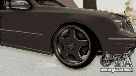 Mercedes-Benz E320 for GTA San Andreas back view